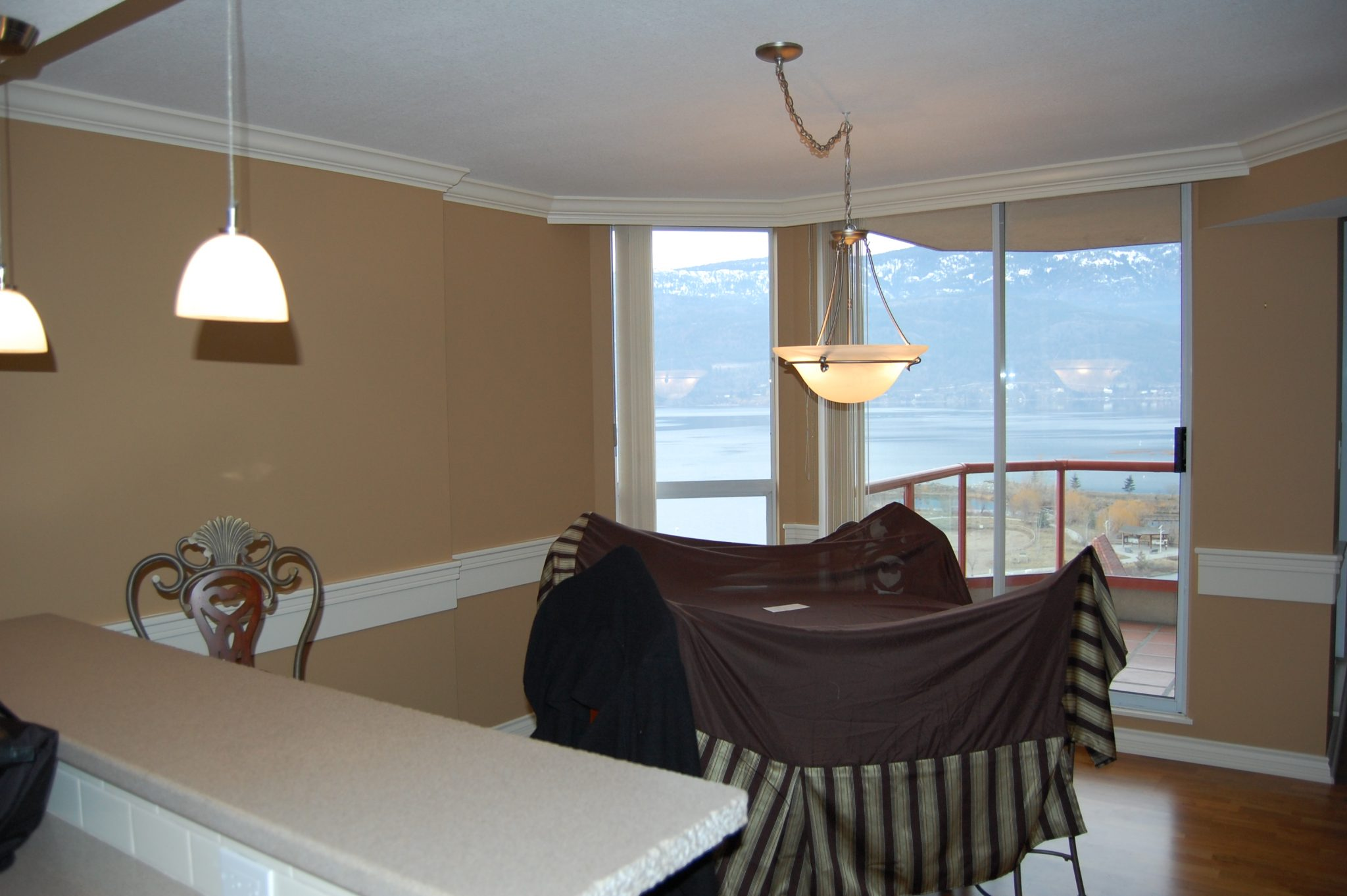 Dining area before... | Creative Touch Kelowna Interior Design