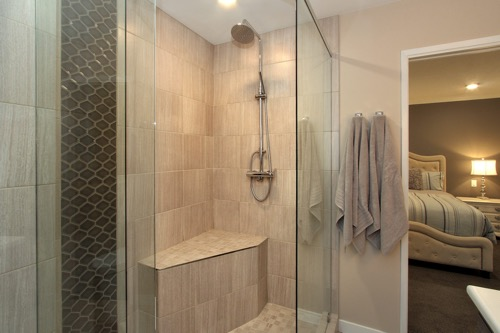 Interior Design Kelowna - Creative Touch - Ensuite bathroom custom shower design