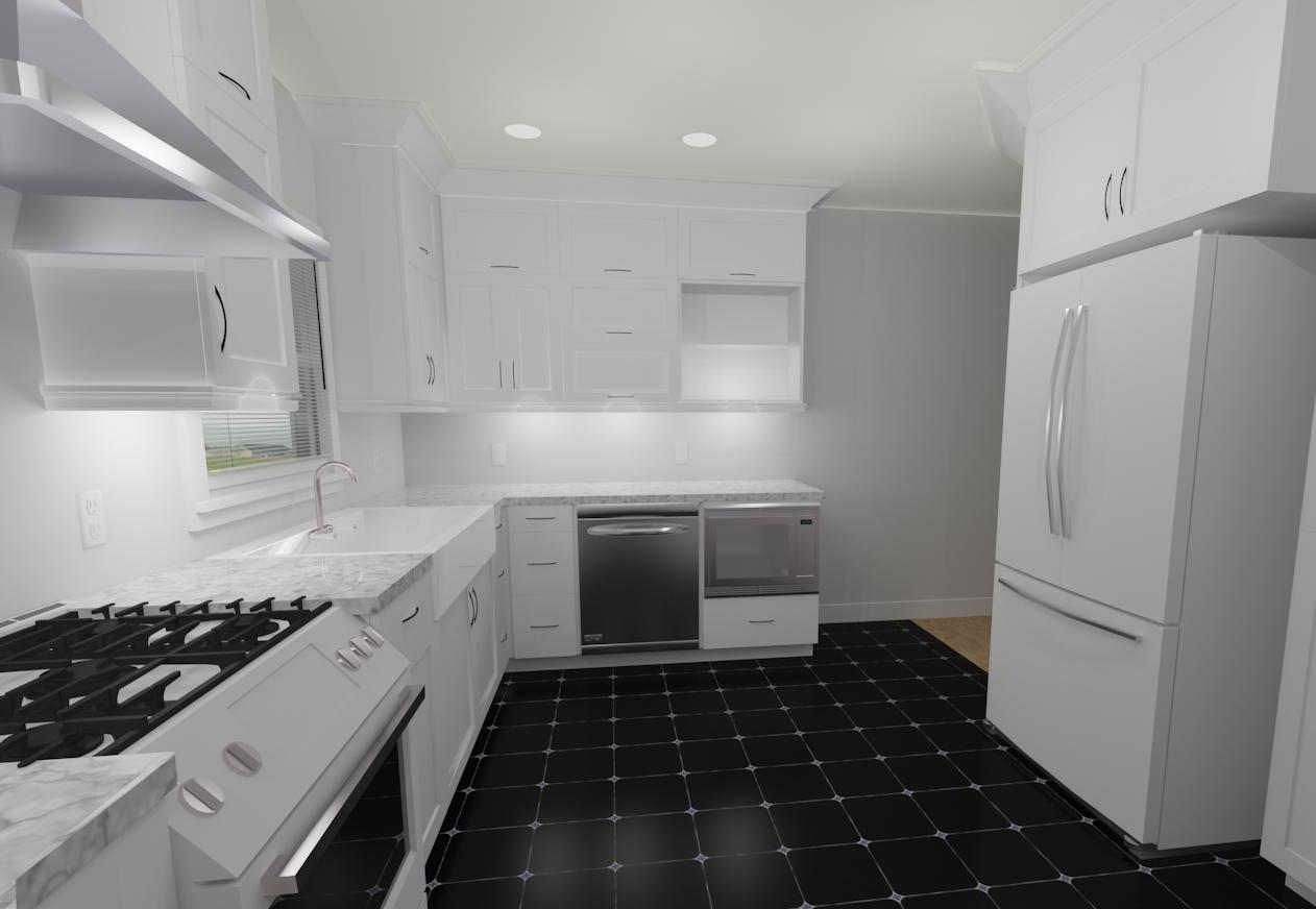 Interior Design Kelowna Creative Touch Heritage Kitchen Remodel Render 1