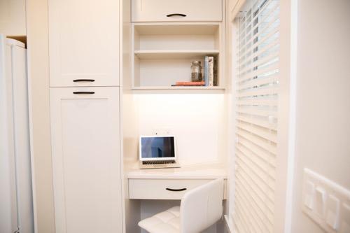 Heritage Home Kitchen Remodel: Desk Nook   Creative Touch Kelowna Interior Design