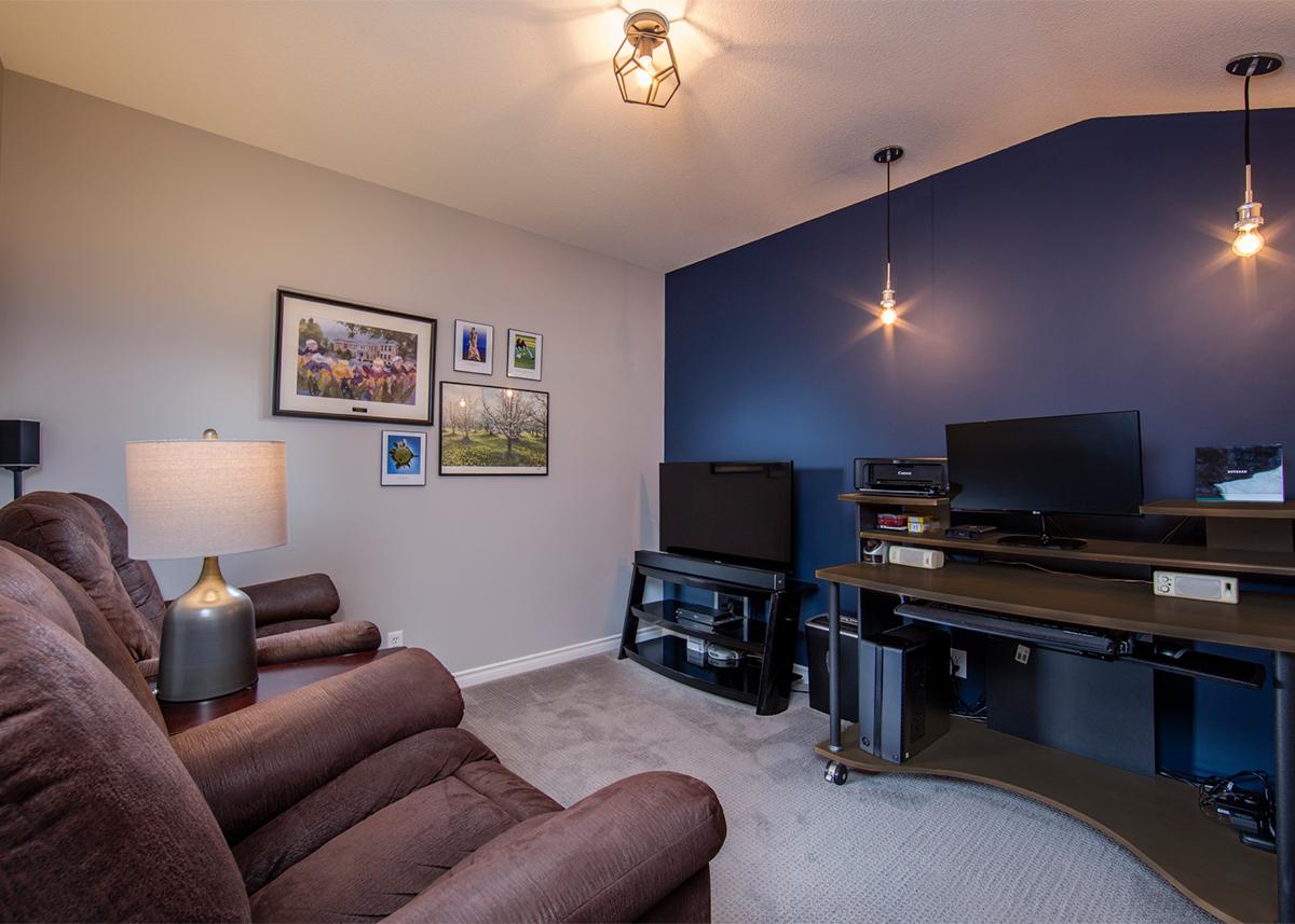 Mid-century condo - entertainment room after | Creative Touch Kelowna Interior Design